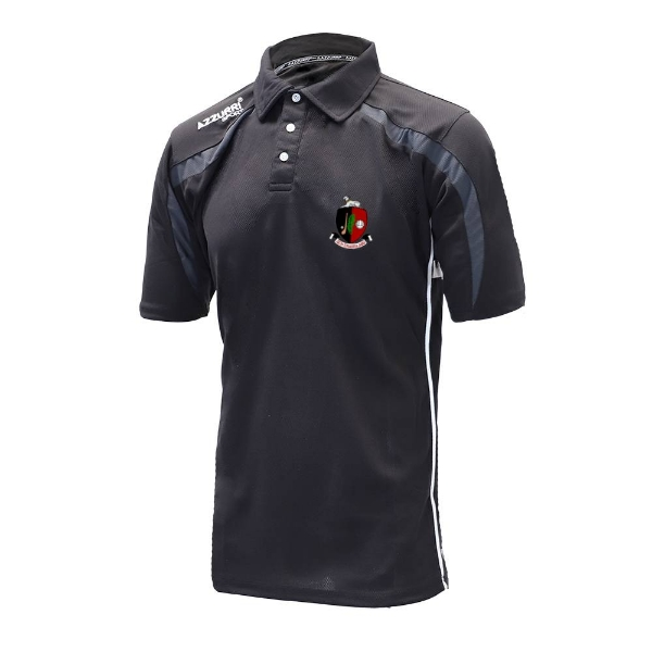 Picture of Newmarket GAA Classic Poloshirt Black-Grey-White