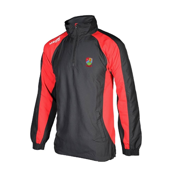 Picture of Na Fianna Hurling Club Tsuit Top-1-4 Zip Black-Red