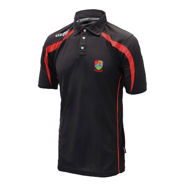 Picture of Na Fianna Hurling Club Classic Polo Shirt Black-Red