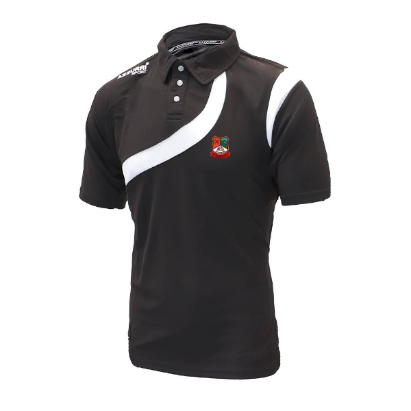 Picture of Mitchelstown Ballygiblin Turin Polo Shirt Black-Black-White