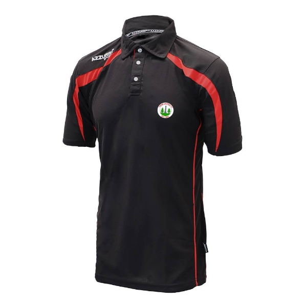 Picture of Caim United Classic Polo Shirt Black-Red
