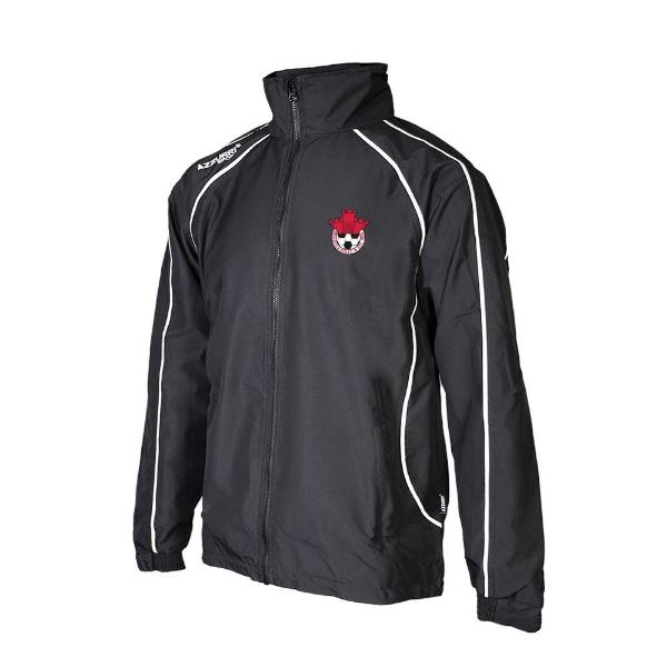 Picture of Redcastle FC Barrow Rain Jacket Black-Black-White