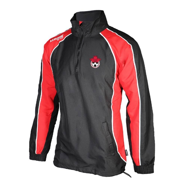 Picture of Redcastle FC TrackTop-1-4 Zip Black-Red-White