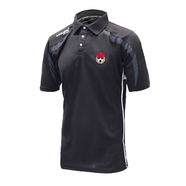Picture of Redcastle FC Classic Poloshirt Black-Grey-White