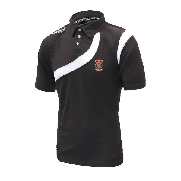 Picture of Old Christians GAA Turin Polo Shirt Black-Black-White