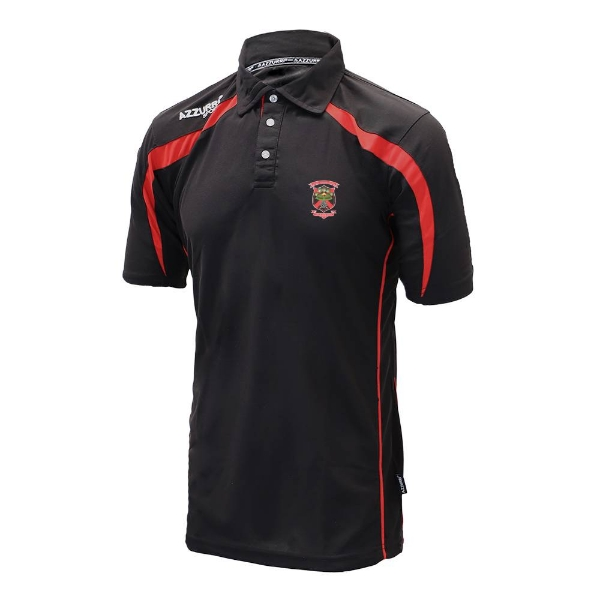 Picture of Old Christians GAA Classic Polo Shirt Black-Red