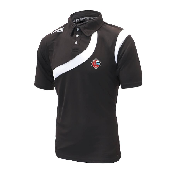 Picture of Valleymount Turin Polo Shirt Black-Black-White
