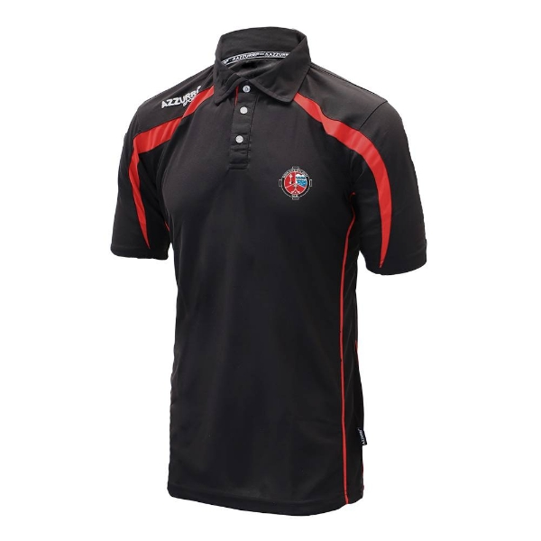 Picture of Valleymount Classic Polo Shirt Black-Red