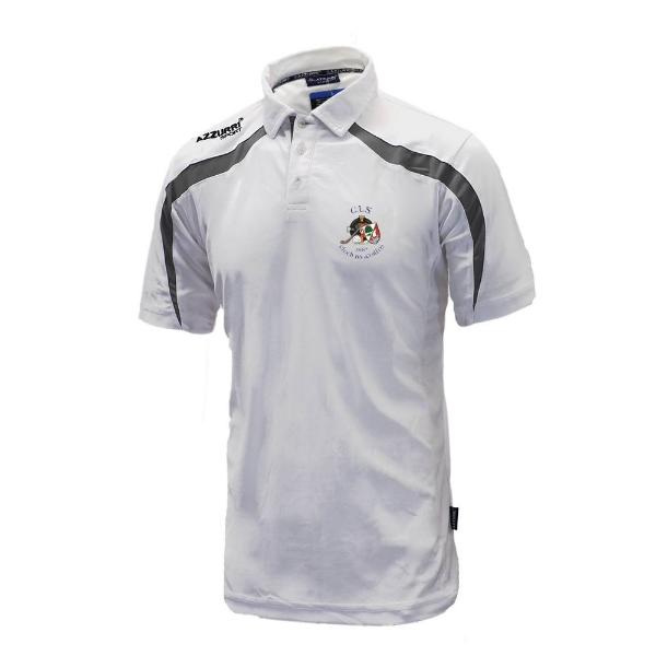 Picture of Clonakilty LGFA Classic Poloshirt White-Grey