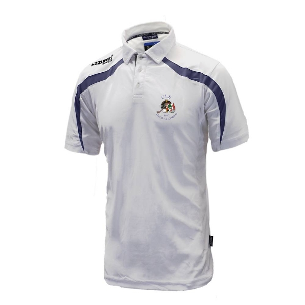 Picture of Clonakilty LGFA Classic Poloshirt White-Navy