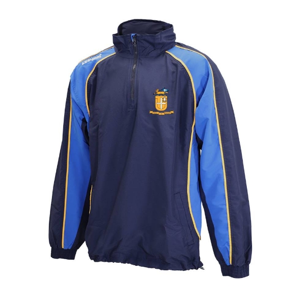 Picture of Glenamaddy GAA TSuit Top, 1-4 Zip - ADULTS Navy-Royal-Gold
