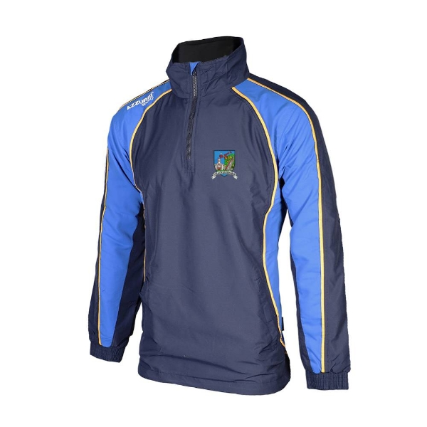 Picture of Tallow Camogie TSuit Top-1-4 Zip - KIDS Navy-Royal-Gold