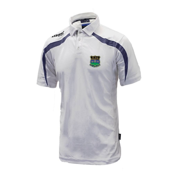 Picture of Knockshgowna GAA Classic Poloshirt White-Navy