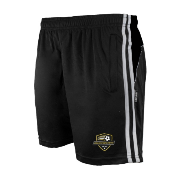 Picture of strokestown united Leisure Shorts Black-Black-White