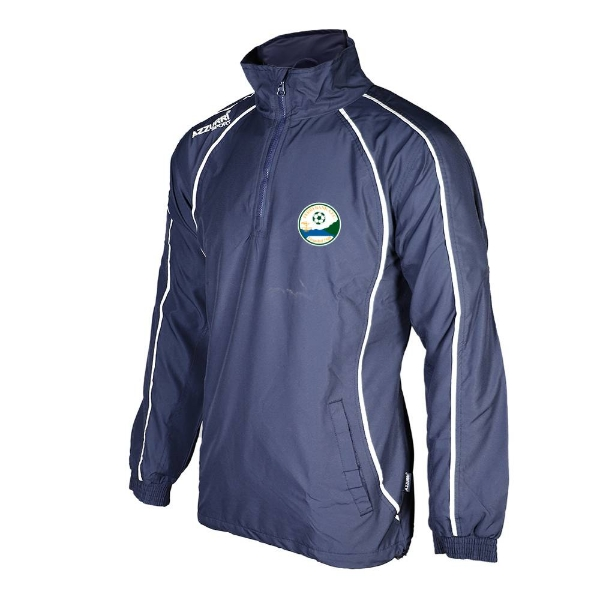Picture of Ferrybank AFC Qtr Zip Tracksuit Jacket Navy-Navy-White