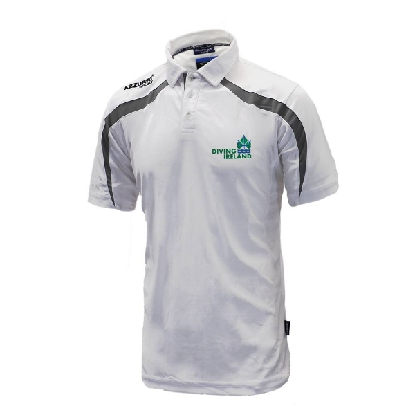 Picture of Diving Ireland Classic Poloshirt White-Grey