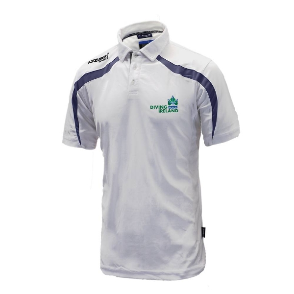 Picture of Diving Ireland Classic Poloshirt White-Navy