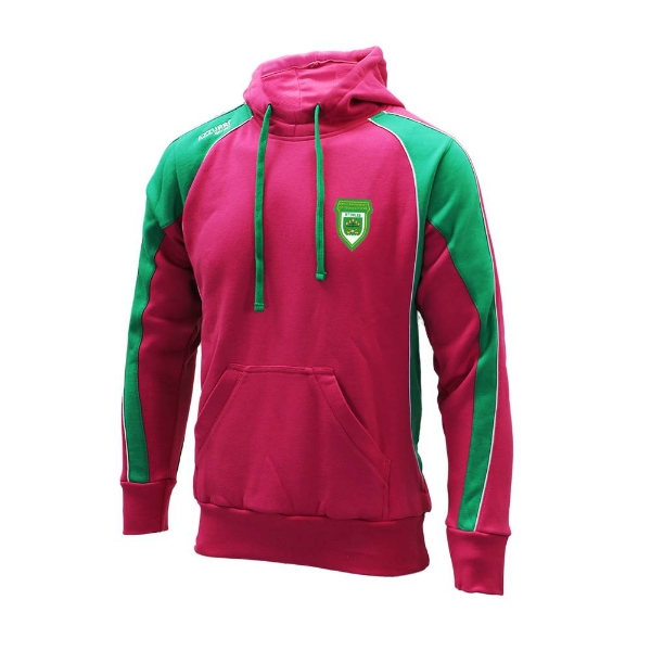 Picture of O Tooles Cotton Hoodie Kids Hot Pink-Emerald-White