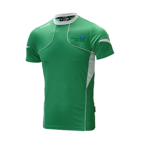 Picture of Weightlifting Ireland T Shirt Adults Emerald-White-White