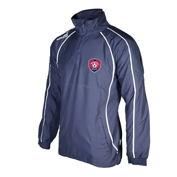 Picture of Ballyduff Rovers Tracksuit Top-1-4 Zip Navy-Navy-White