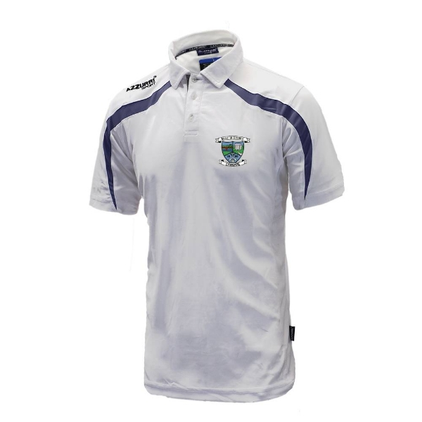 Picture of Ballyduff Upper Camogie Classic Poloshirt White-Navy