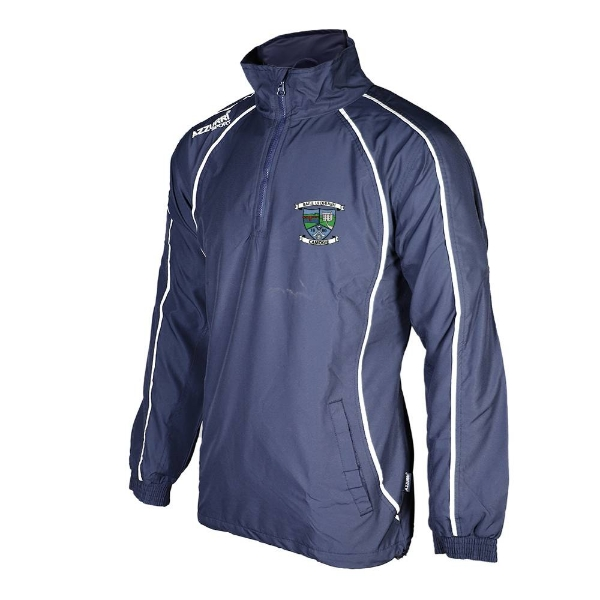 Picture of Ballyduff Upper Camogie Tracksuit Jacket 1-4 Zip Navy-Navy-White