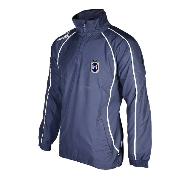 Picture of Our Ladys Hockey Track Jacket - Qtr Zip Navy-Navy-White