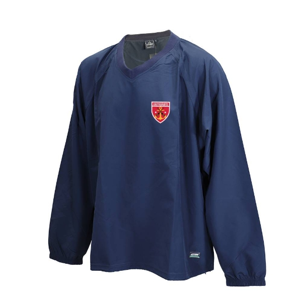 Picture of Passage East HC Ripstop V Neck Rugger Navy