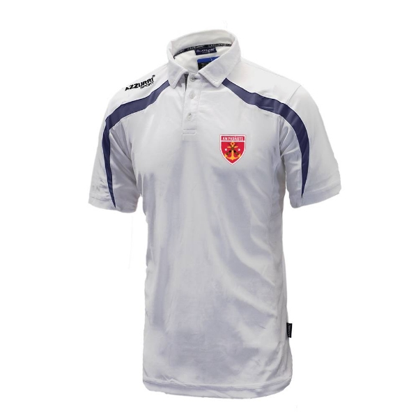 Picture of Passage East Classic Poloshirt White-Navy