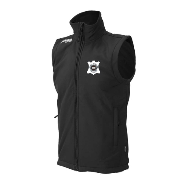Picture of portlaw united soft shell body warmer Black