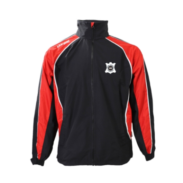 Picture of portlaw united Barrow Rain Jacket Black-Red-White