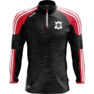 Picture of PORTLAW UNITED FC Brooklyn Half Zip Black Melange-Red-White