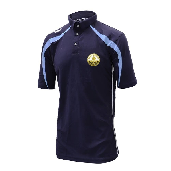 Picture of Elm Mount FC Polo Shirt Navy-Sky-White