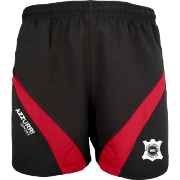 Picture of PORTLAW UNITED FC GYM SHORTS Black-Red