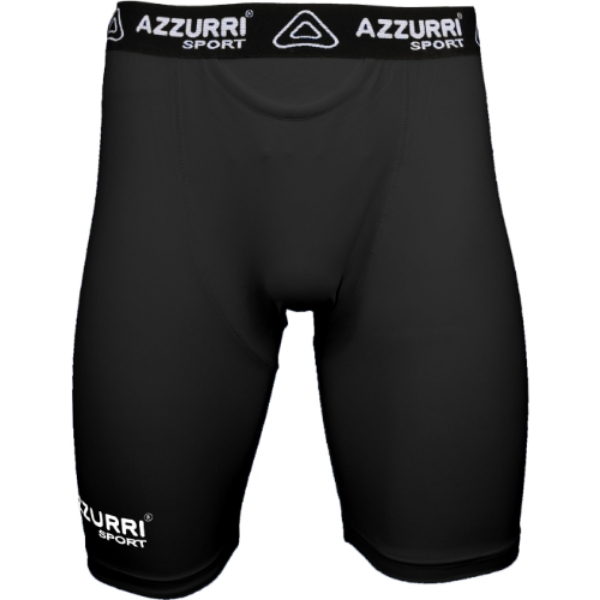 Picture of BLACK BASE LAYER SHORTS White