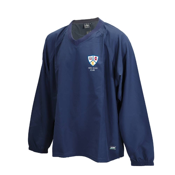 Picture of Keel GAA Ripstop V Neck Rugger Navy