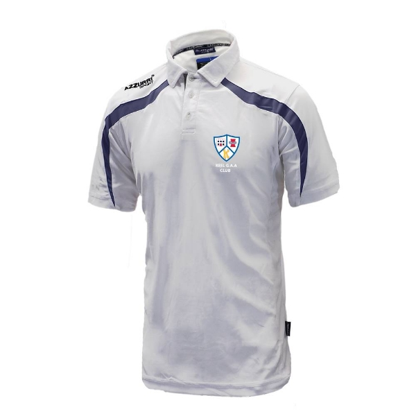 Picture of Keel GAA Classic Poloshirt White-Navy