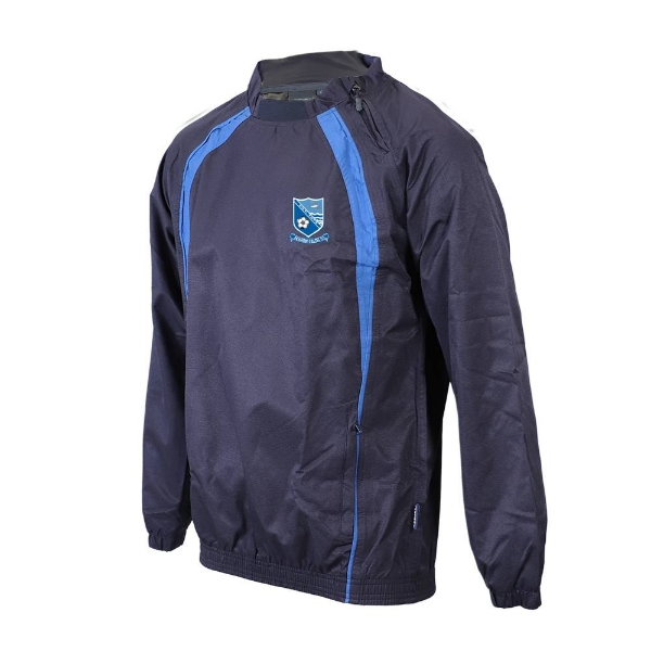 Picture of Seaview Celtic Rugger-Side Zip Neck Navy-Royal
