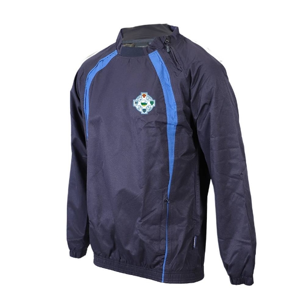 Picture of Seaview Celtic Windcheater-Side Zip Neck Navy-Royal