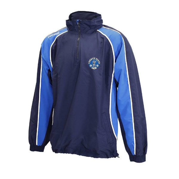 Picture of Silvermines FC Qtr Zip Jacket Navy-Royal-White
