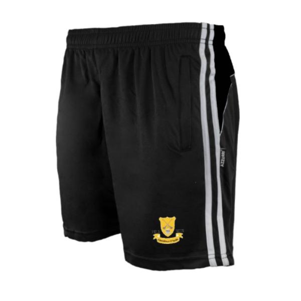 Picture of CLONTIBRET GAA Brooklyn Leisure Shorts Black-Black-White