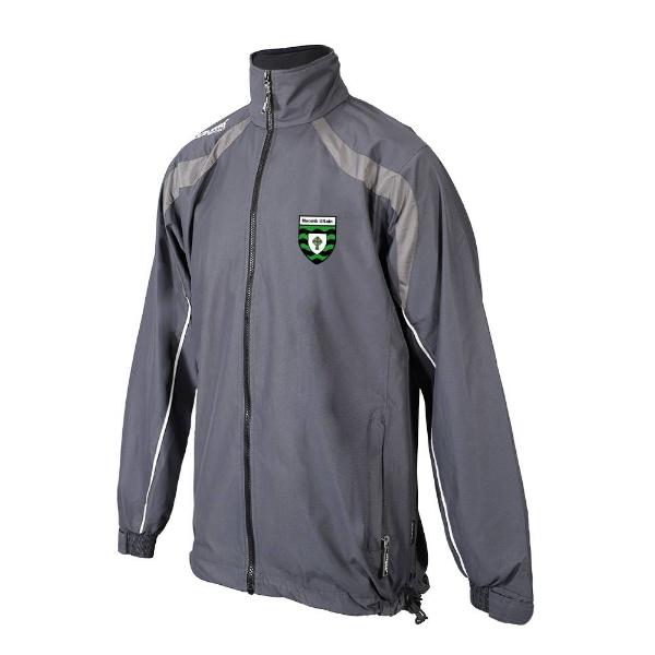 Picture of St Ultans GAA Kids Brosna Rain Jacket Gunmetal Grey-Slate Grey-White