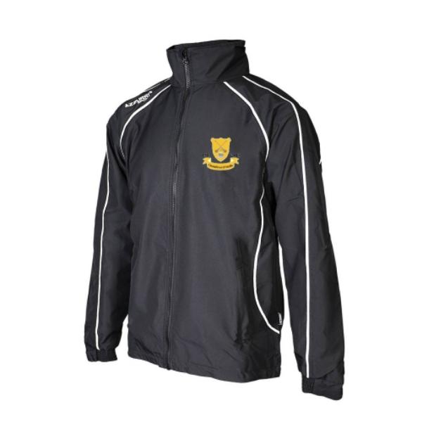 Picture of Clontibret GAA Barrow Rain Jacket Black-Black-White