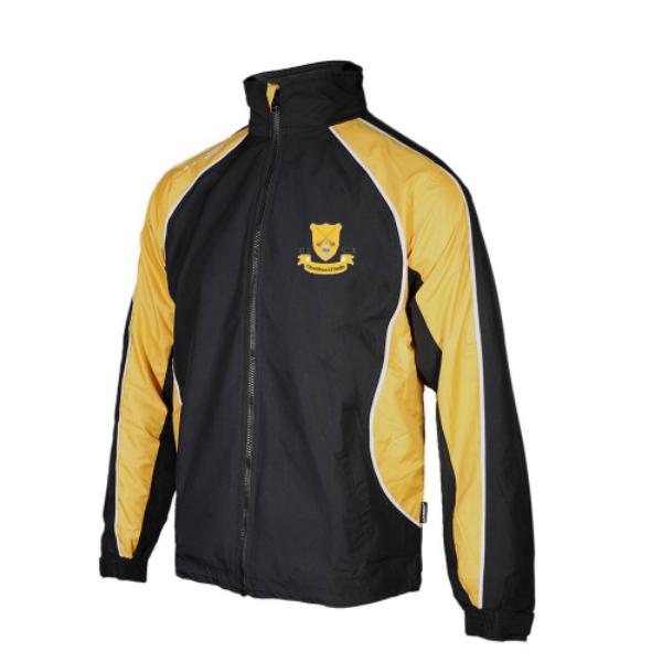 Picture of Clontibret GAA Barrow Rain Jacket Black-Gold-White