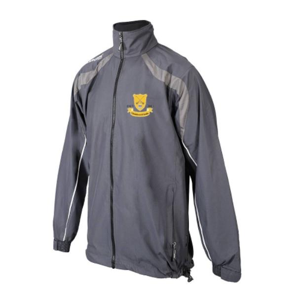 Picture of Clontibret GAA Kids Brosna Rain Jacket Gunmetal Grey-Slate Grey-White