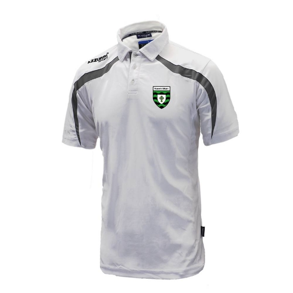 Picture of St Ultans GAA Classic Poloshirt White-Grey