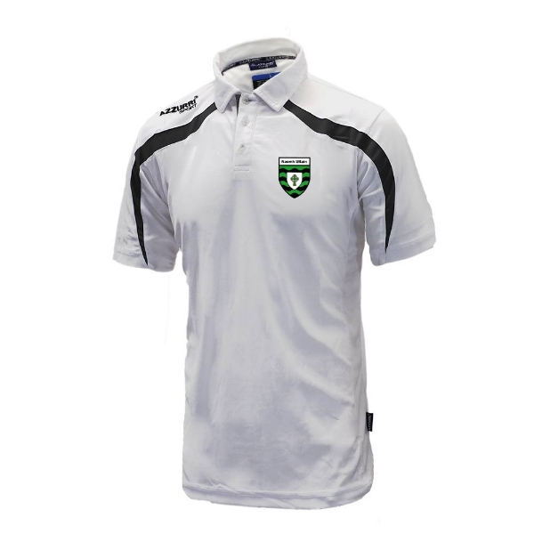 Picture of St Ultans GAA Classic Poloshirt White-Black