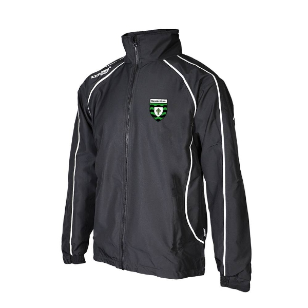 Picture of St Ultans GAA Barrow Rain Jacket Black-Black-White