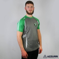Picture of St Ultans GAA Swilly Tee Grey Melange-Emerald-White