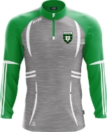 Picture of St Ultans GAA Swilly Half Zip Grey Melange-Emerald-White